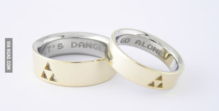 Gamers' Wedding Ring: It's dangerous to go alone.