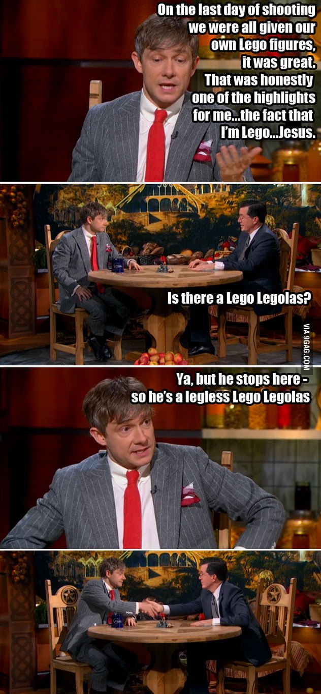 Bilbo (Martin Freeman) is a funny guy.