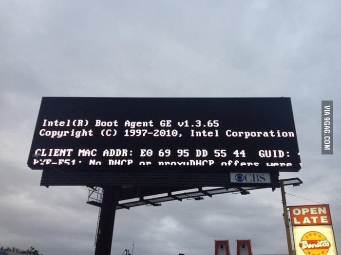 When billboard breaks down.