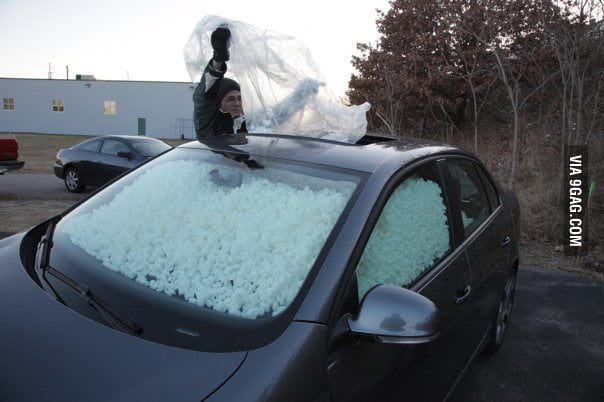 Never forget to shut your sunroof even when it isn't snowing