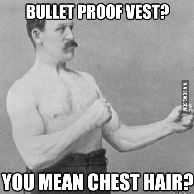 Overly Manly Man's flak vest