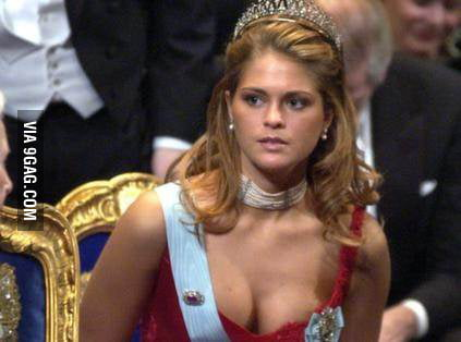 This is princess Madeleine of Sweden.