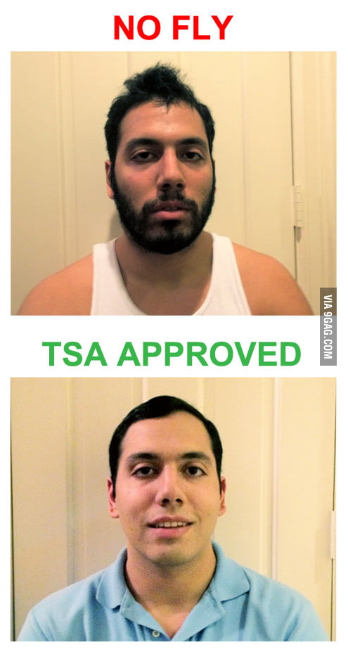 Beard makes a big difference when you travel.