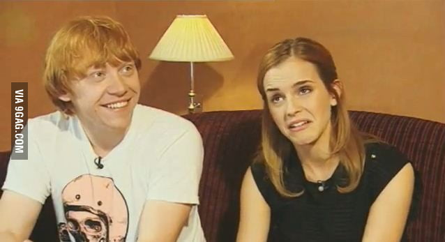 Emma and Rupert, how was it sharing an on screen kiss?