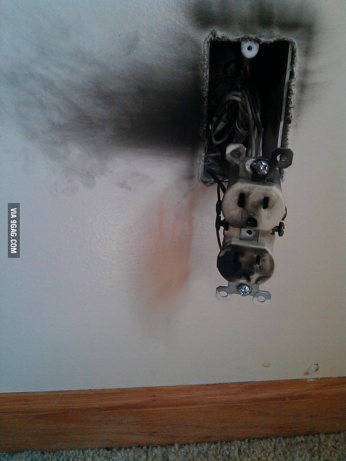 House got struck by lightning, outlet took one for the team.