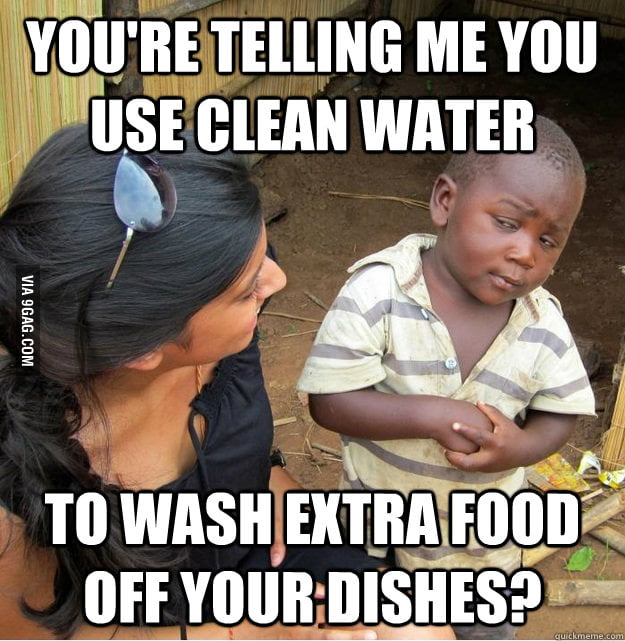 I thought about this when I was washing dishes today.