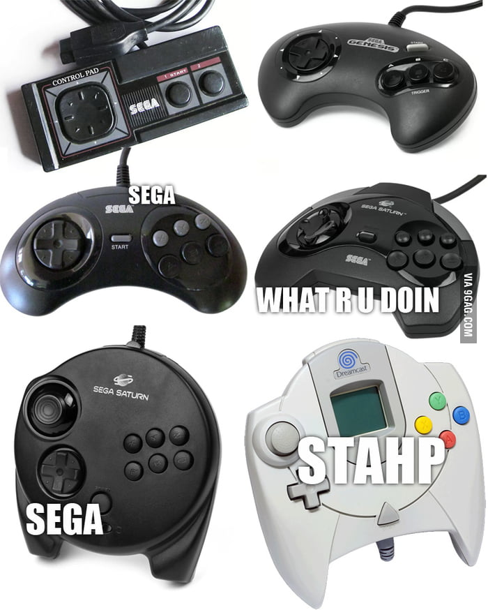 The Evolution of SEGA Controllers.