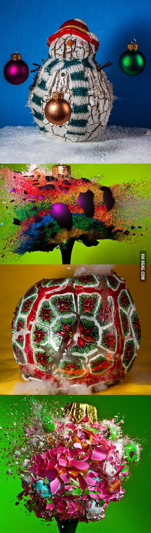 Happy holidays! Now have some exploding Xmas ornaments!