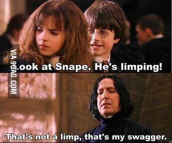 It's not a limp....