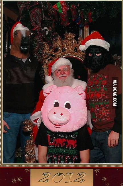 Santa was uncomfortable