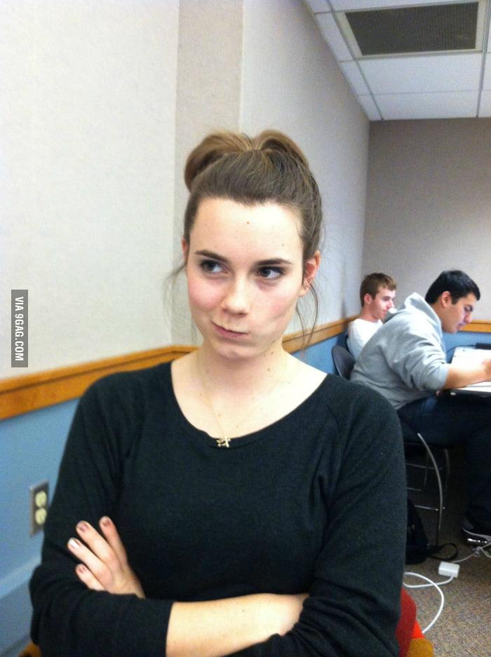 She is not impressed that she kinda looks like someone.