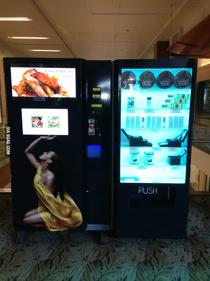 They have truffle and caviar vending machine now!
