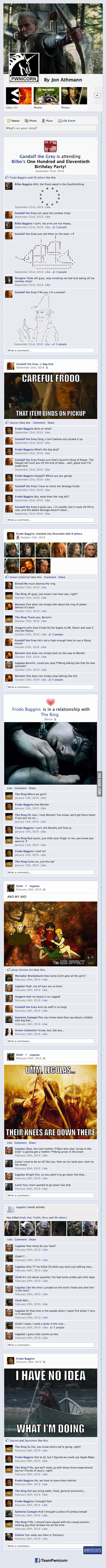 The Lord of the Rings on Facebook