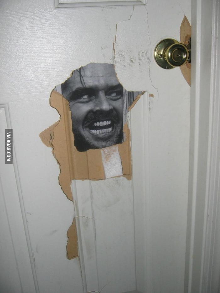 Finally repaired the bathroom door.