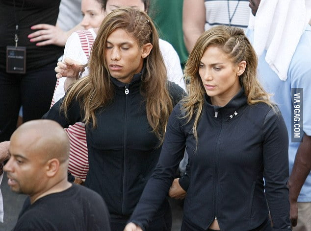 Jennifer Lopez's stunt double is a man!