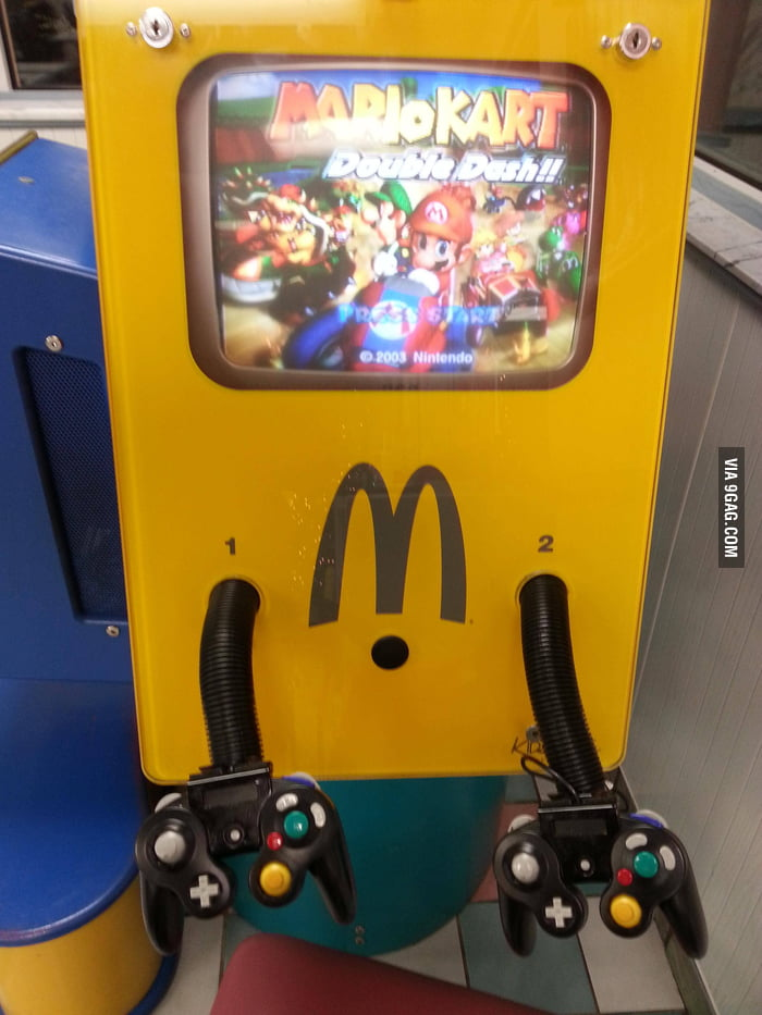 Found this Mario Kart at a local McDonald's.