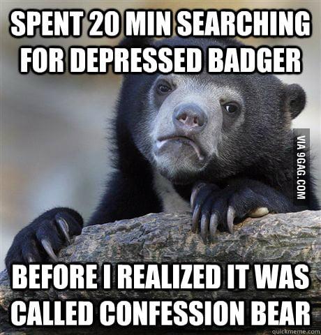 Depressed Badger