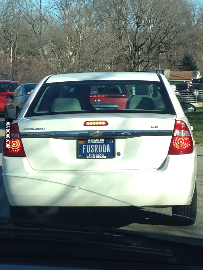 Saw this license plate today.