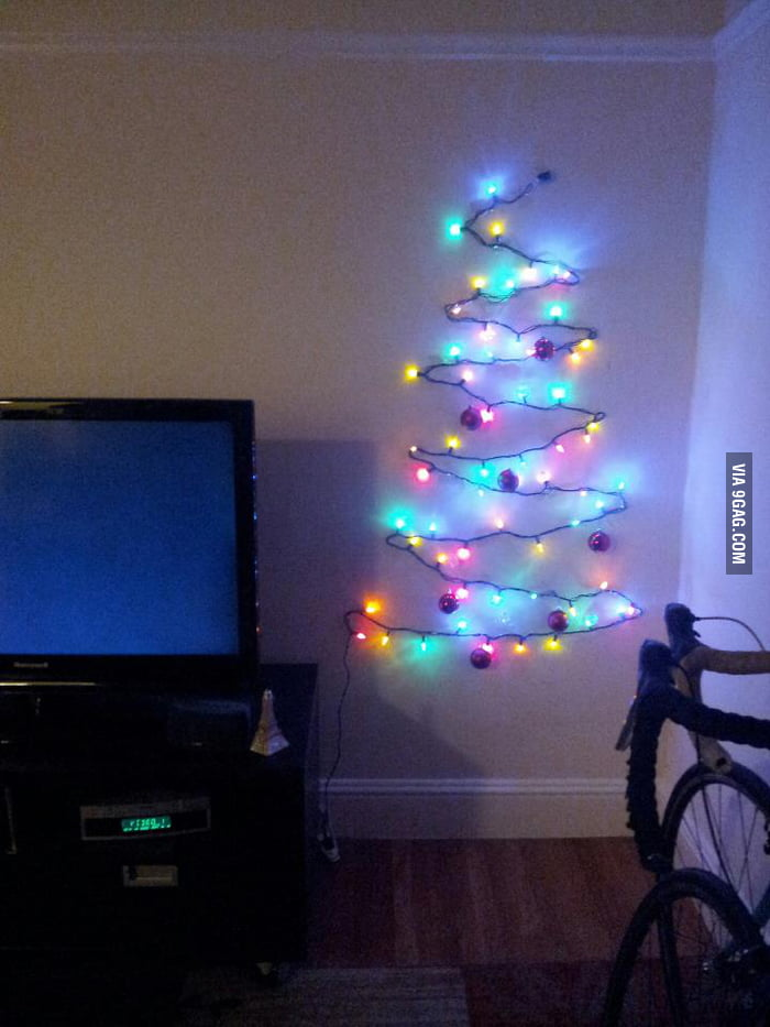 When your apartment is too small for a Christmas tree.
