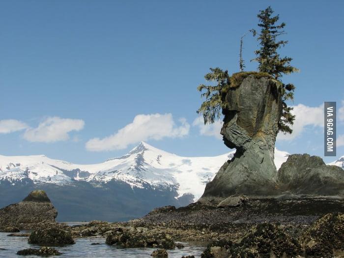 Natural Rock Face in Alaska