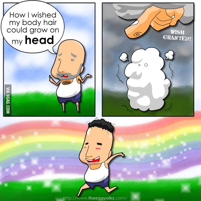 A Baldy's wish