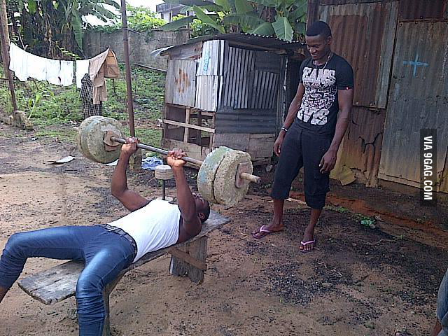 Where you go to gym in Nigeria.