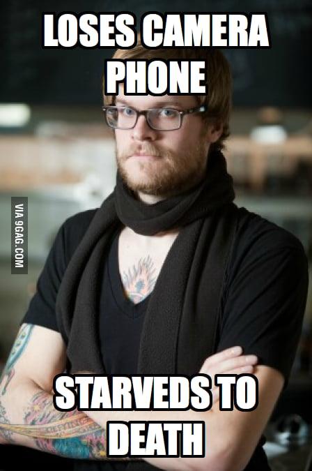 Hipster Barista loses his camera phone.