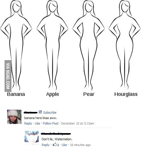 Female body types (watermelon)