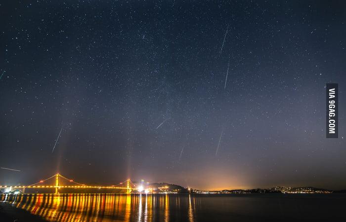 2012 Geminid Meteor Shower, San Francisco.