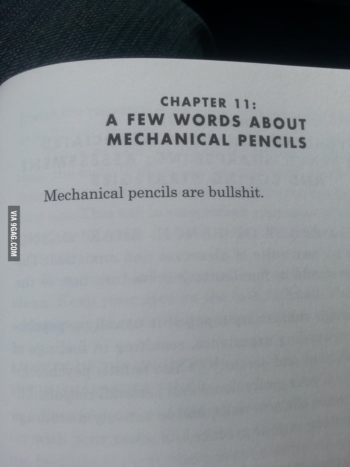 A few words about mechanical pencils.