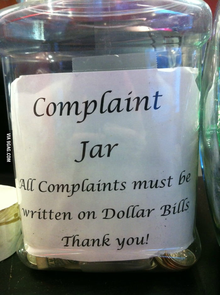 Complaint Jar