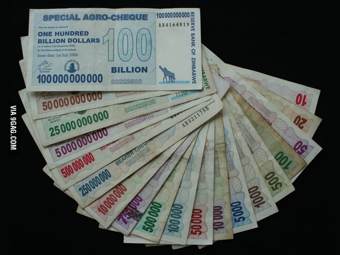 Everyone can be a billionaire if you live in Zimbabwe.