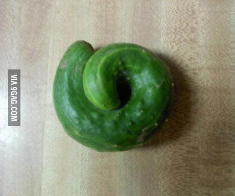 This cucumber looks like poo.