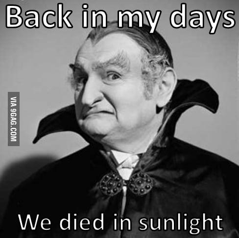 We died in sunlight