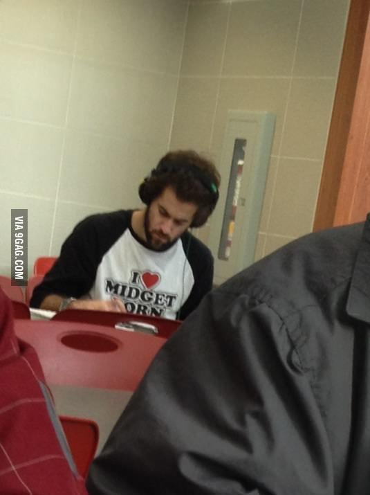 Classy t-shirt.