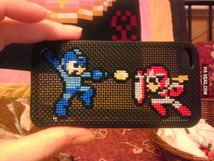 This is a pretty awesome Rockman iPhone case.