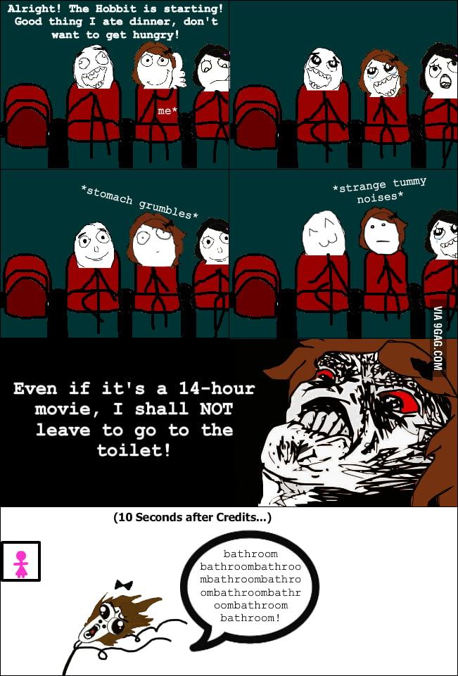 Watching The Hobbit.
