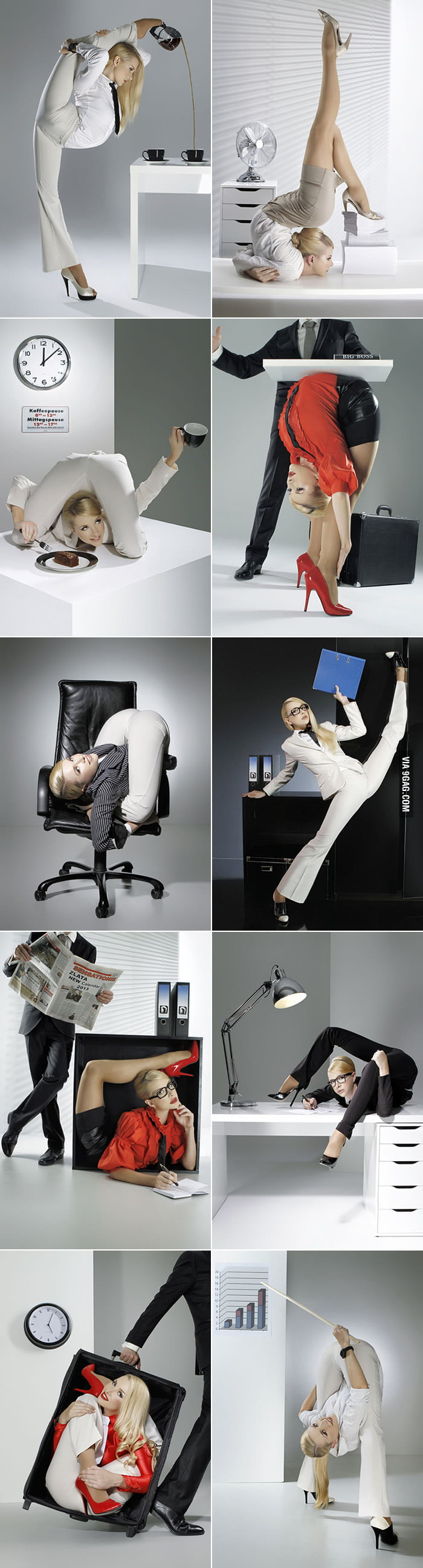 If you have a contortionist co-worker at office.