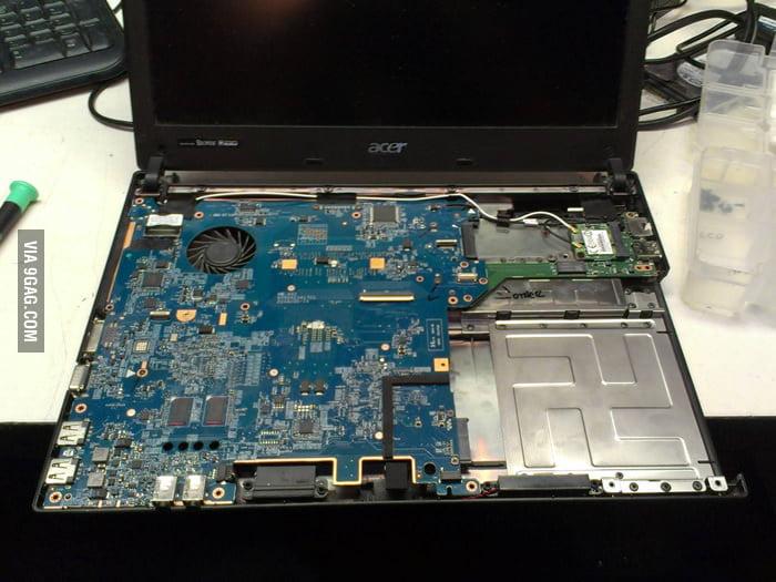 Hidden symbol inside an Acer notebook!