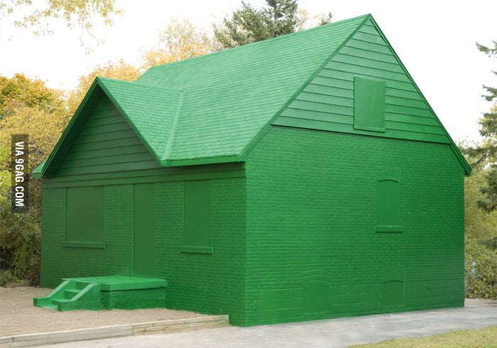 Life-sized Monopoly house in Canada.