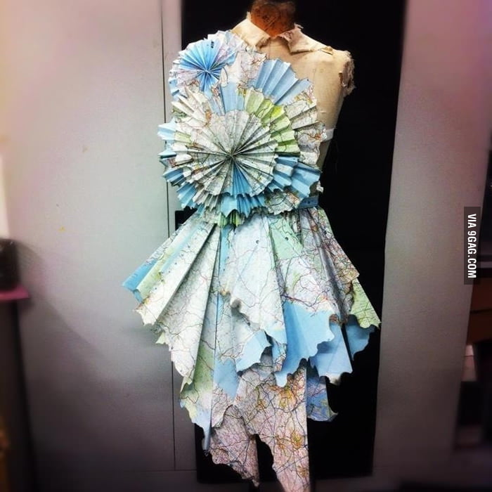 A dress made from maps.