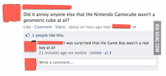 Nintendo Gamecube and Game Boy.