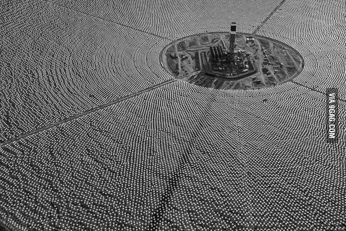 Ivanpah - the largest solar power plant in the world.