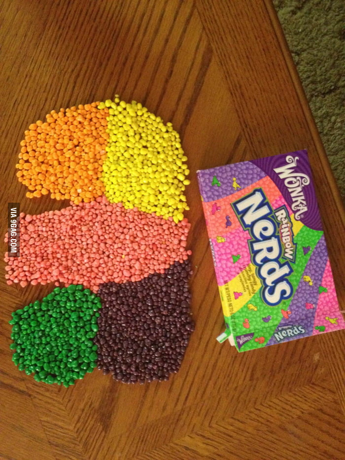 Separating the rainbow nerds.