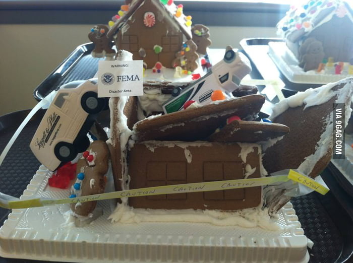 When your gingerbread house fell apart, just let it flow.