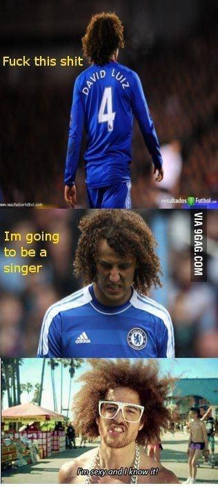 David Luiz=Redfoo