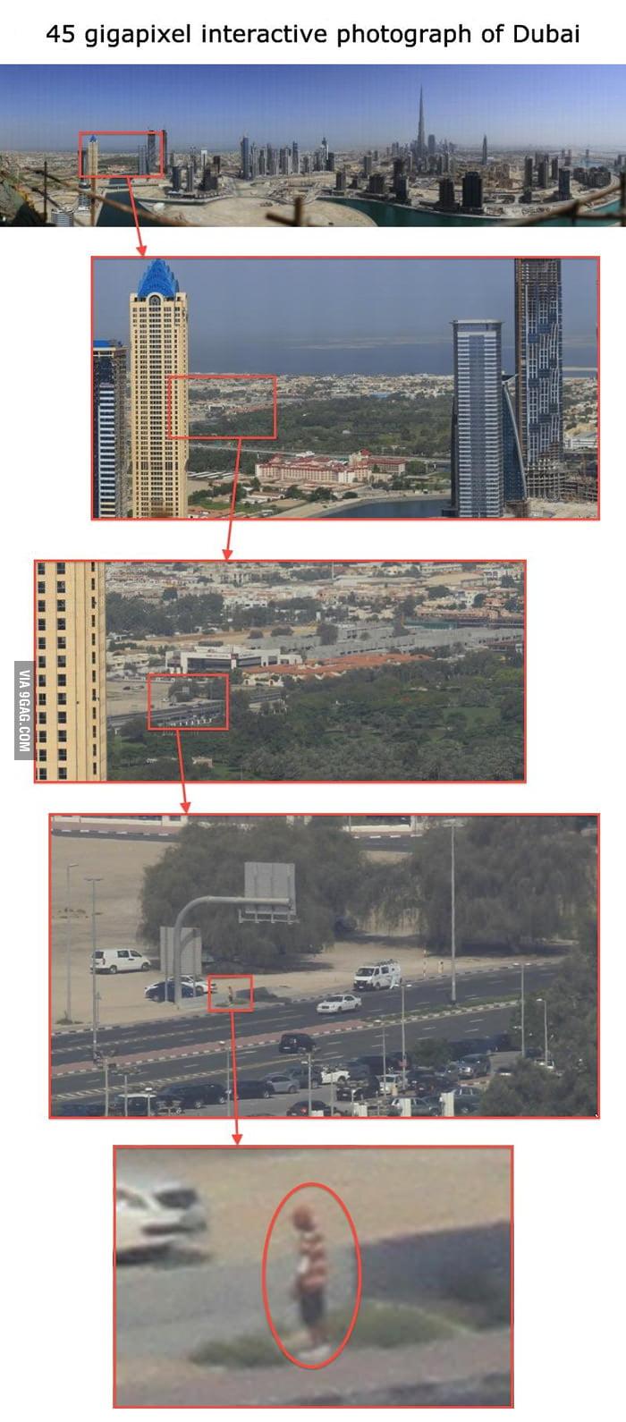 45 gigapixel interactive photograph of Dubai.