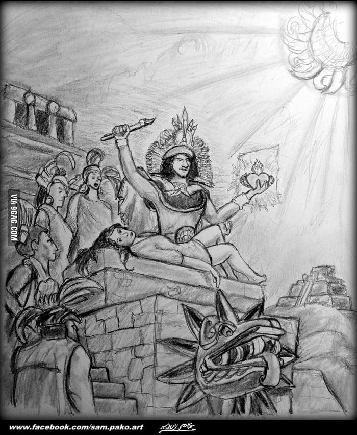 mayan sacrifice pit - 700×852