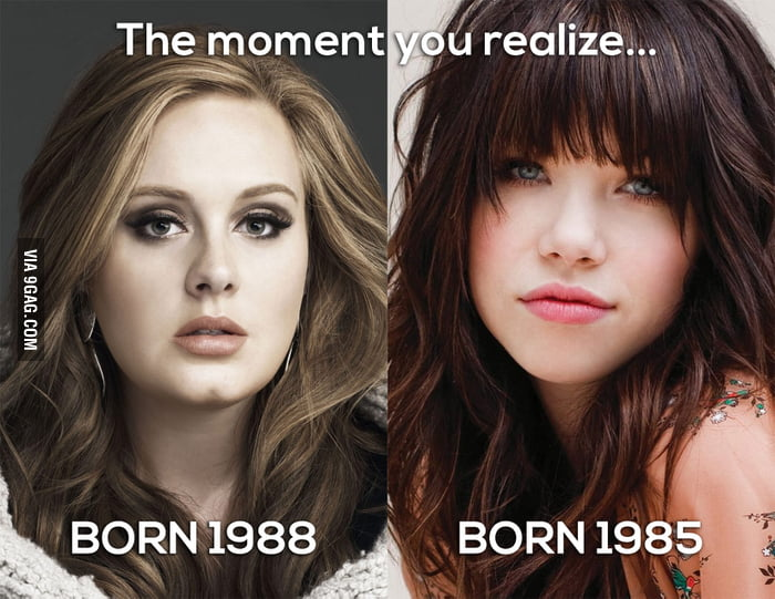 The moment you realize Adele is younger than Carly R. Jepsen