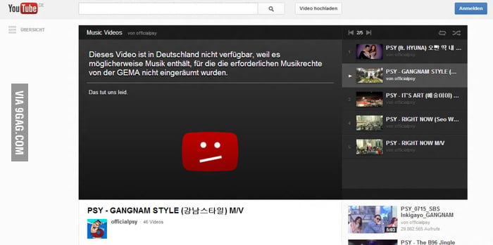 Over 1B views...but probably not from Germany though.. :/